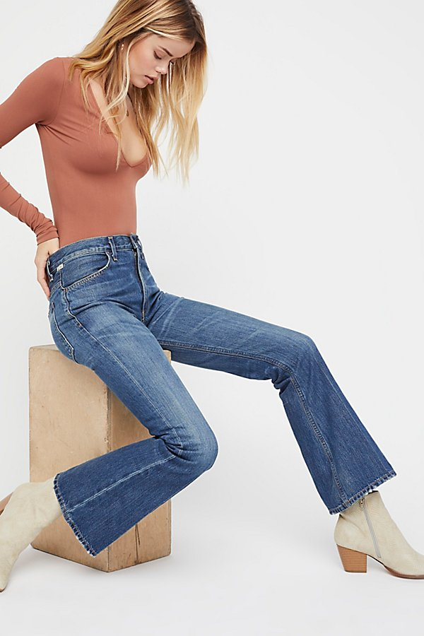 Slide View 1: Citizens of Humanity Kaya Mid-Rise Crop Flare Jeans