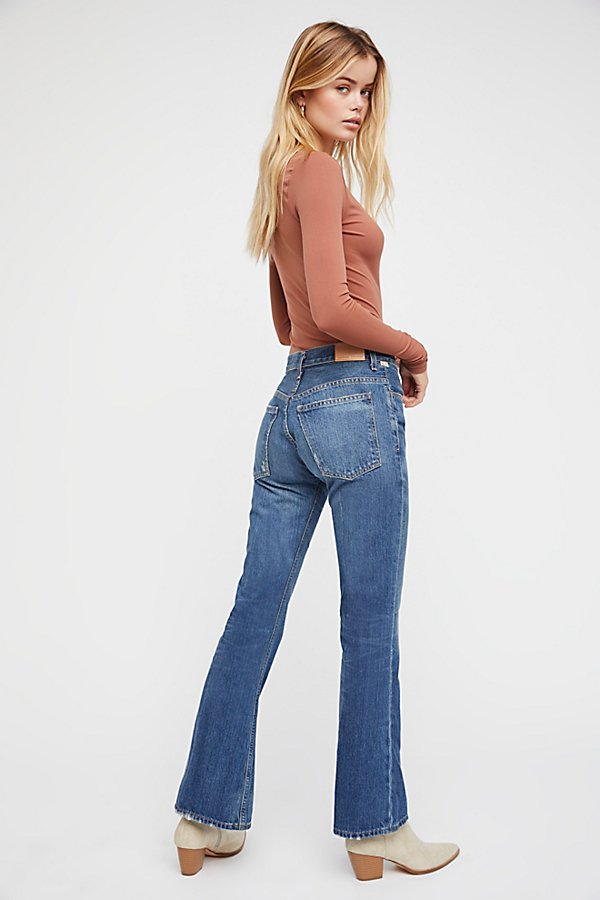 Slide View 3: Citizens of Humanity Kaya Mid-Rise Crop Flare Jeans