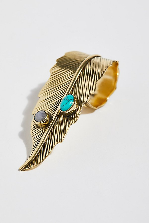Slide View 2: Brass Crosshand Feather Ring
