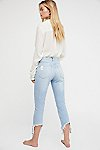 Thumbnail View 3: High Rise Straight Authentic Crop Jeans