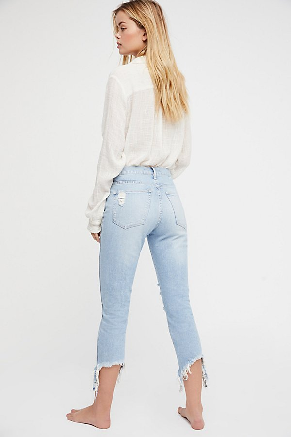 Slide View 3: High Rise Straight Authentic Crop Jeans