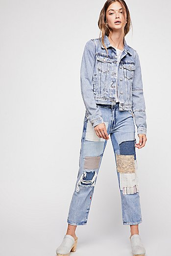 Mellow Patched Boyfriend Jeans