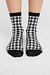 Thumbnail View 2: Gingham Crew Sock