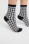 Thumbnail View 1: Gingham Crew Sock