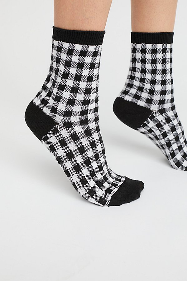 Slide View 1: Gingham Crew Sock