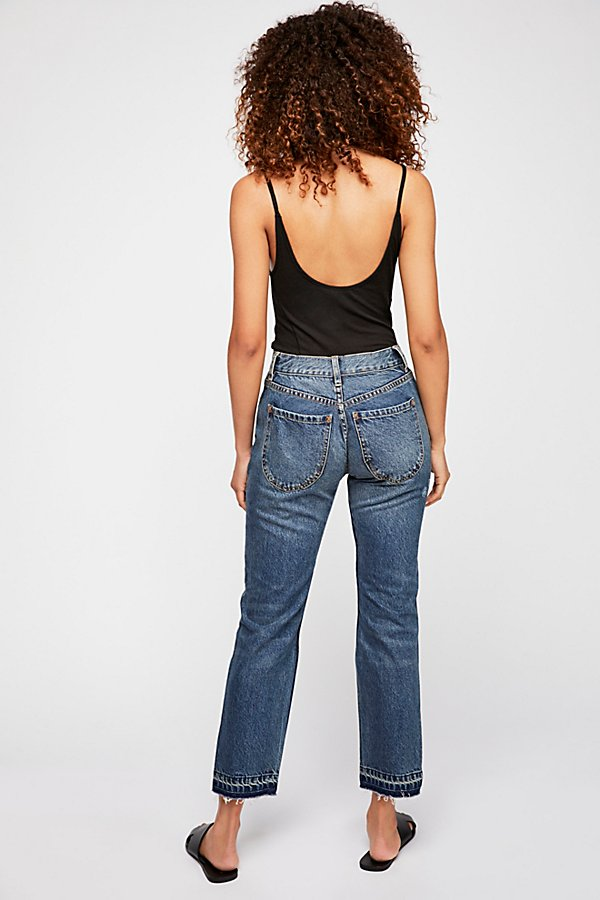 Slide View 2: Let Down Hem Slim Crop Jeans