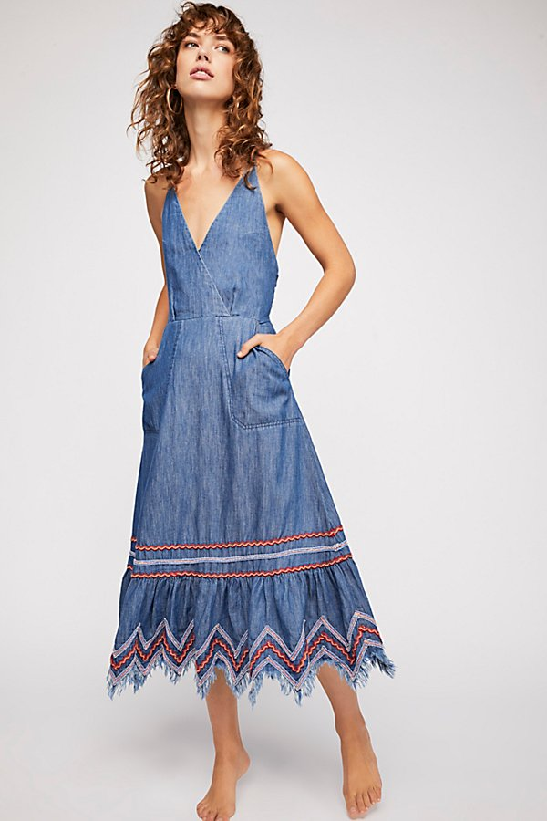 Slide View 1: Seaside Denim Midi Dress