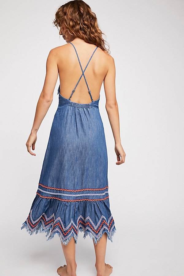 Slide View 2: Seaside Denim Midi Dress
