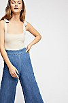 Thumbnail View 3: Clean Wide-Leg Jeans