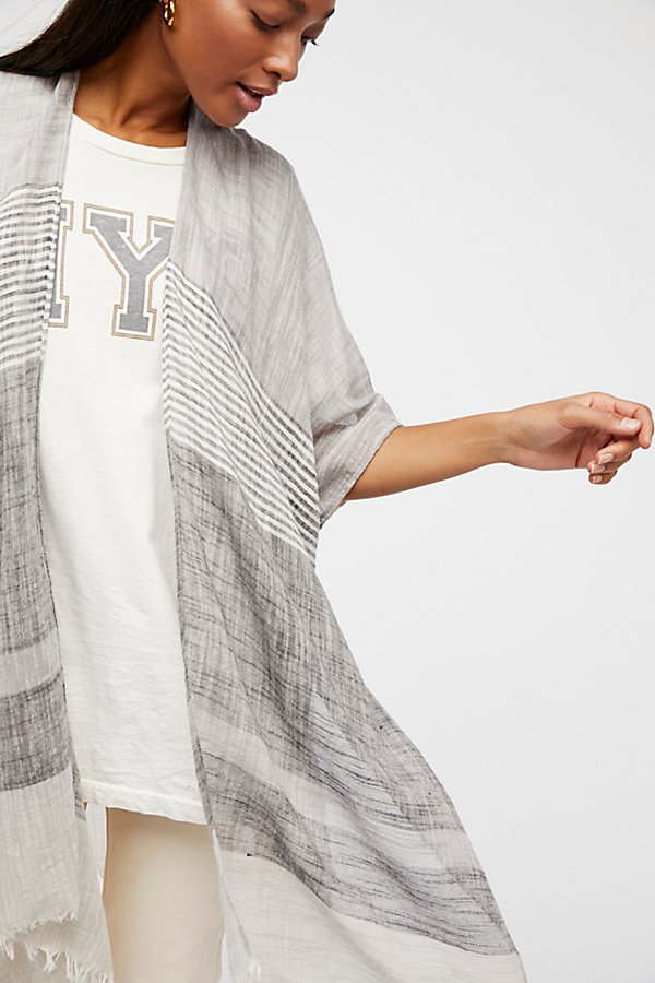 Slide View 1: Take Flight Stripe Kimono