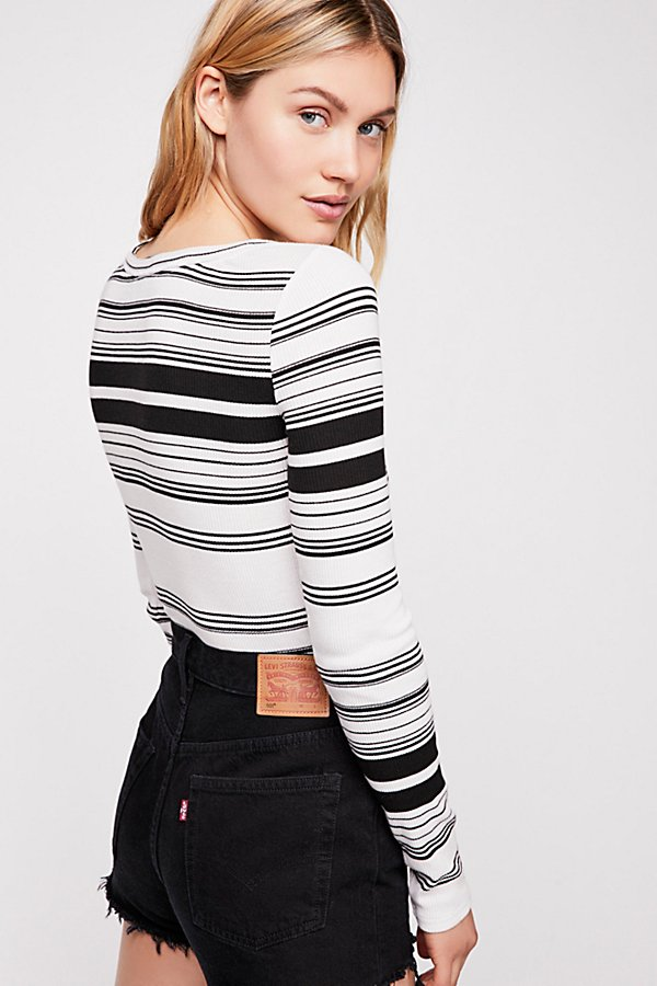 Slide View 2: Striped Hayley Long Sleeve Top