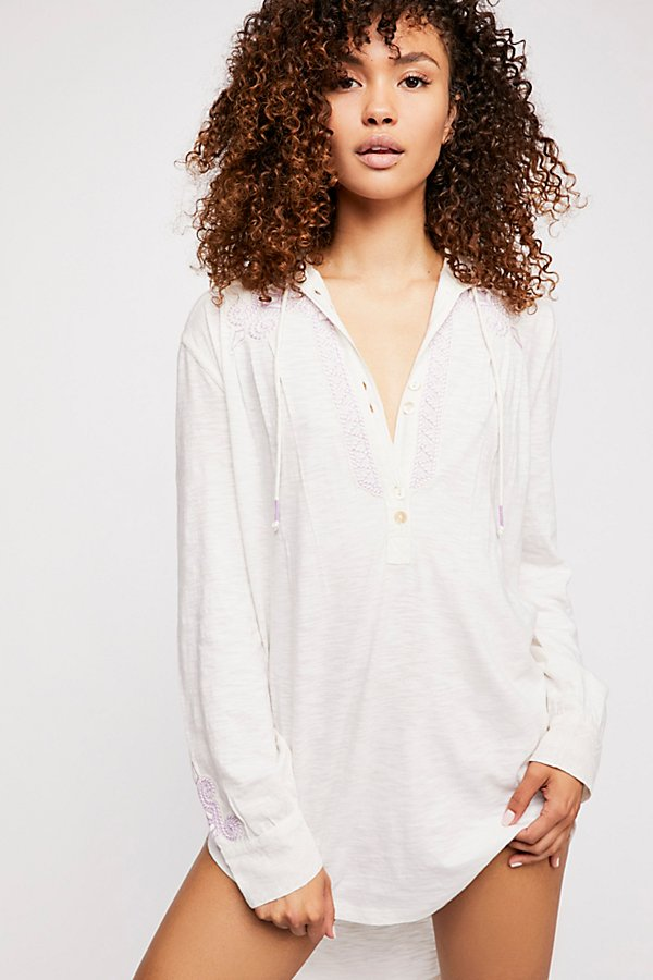 Slide View 1: Ester Embroidered Hooded Tunic