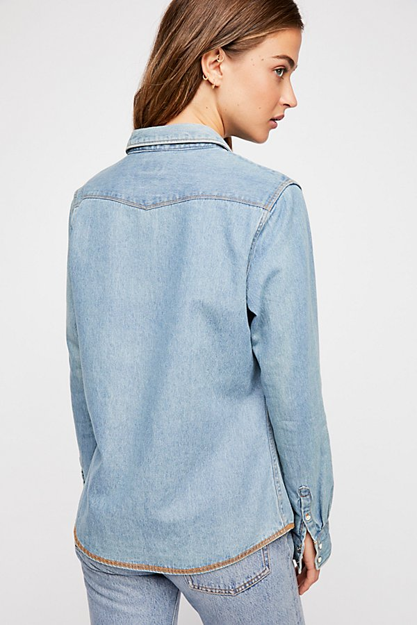 Slide View 4: Wrangler Festival Denim Shirt