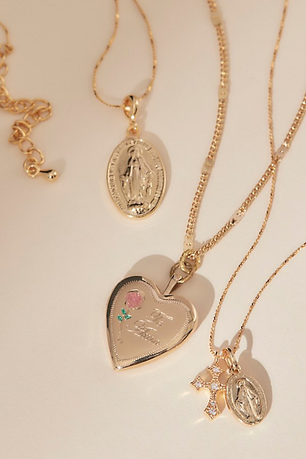 Slide View 1: Made With Love Locket Necklace