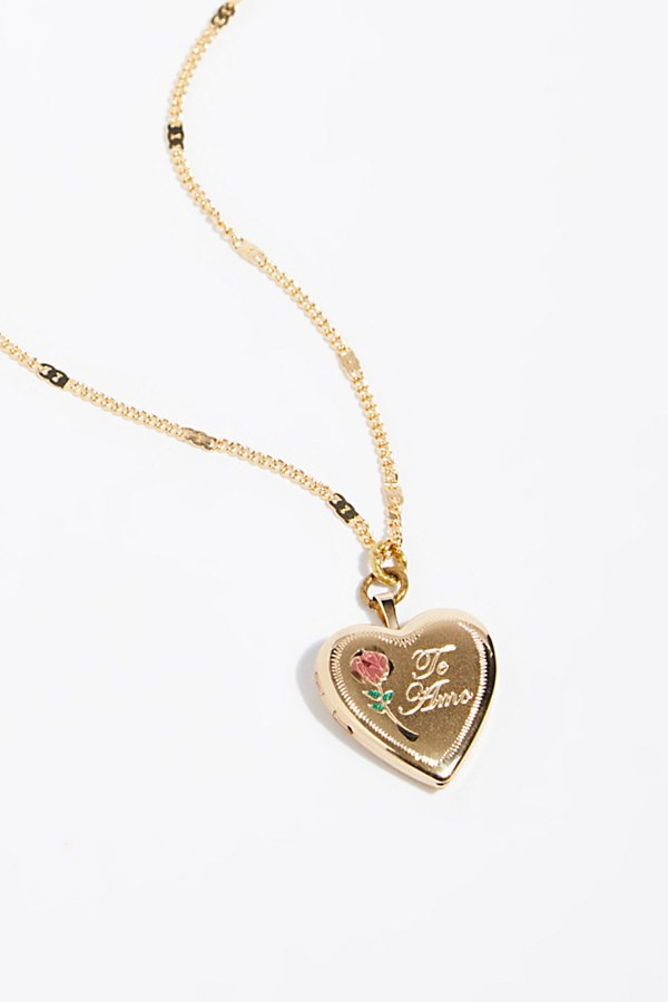Slide View 3: Made With Love Locket Necklace