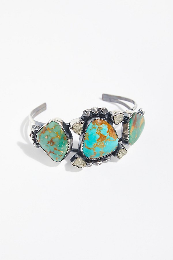 Slide View 1: Pyrite and Stars Turquoise Cuff