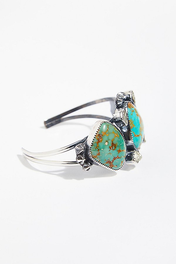 Slide View 2: Pyrite and Stars Turquoise Cuff