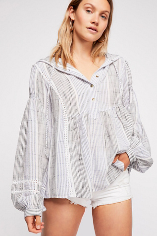 Baja Babe Stripe Pullover by Free People