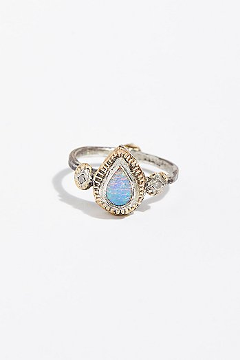 14k Free Rain Diamond Ring