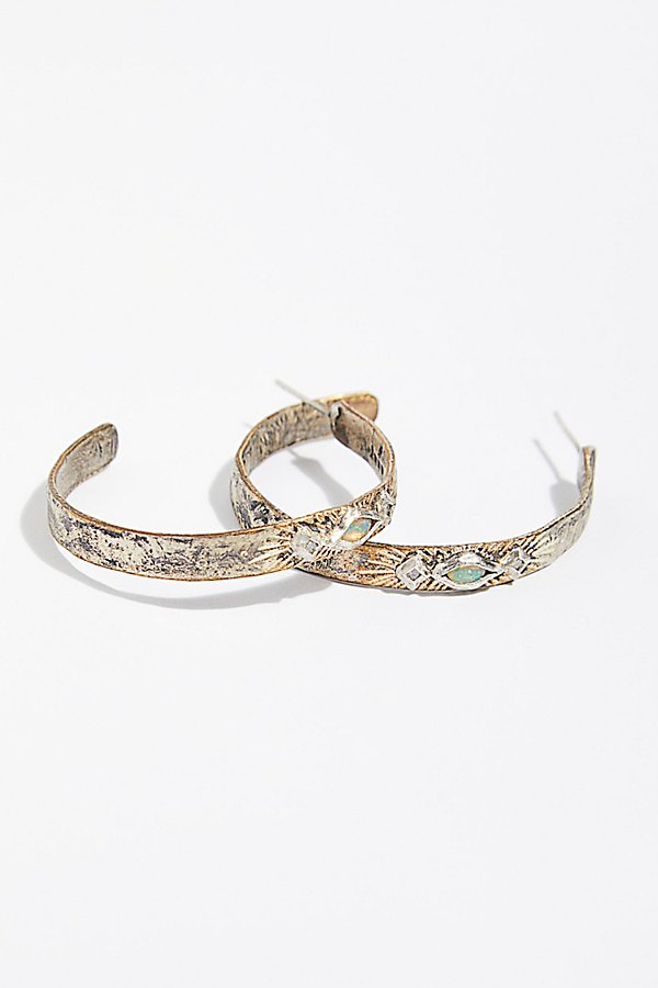 Slide View 1: Free Rain Opal Diamond Hoop Earrings
