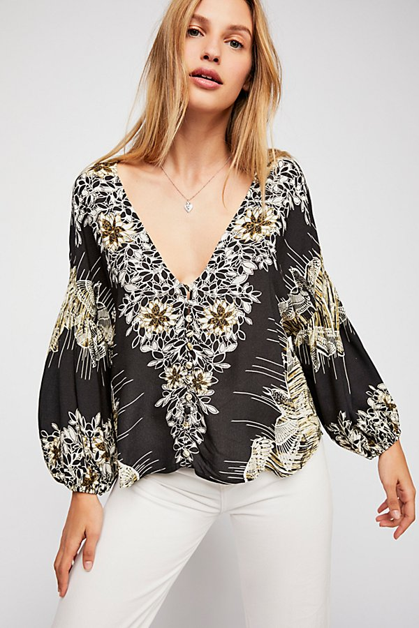 Slide View 1: Birds Of A Feather Printed Top