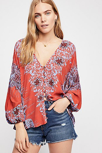 Birds Of A Feather Printed Top