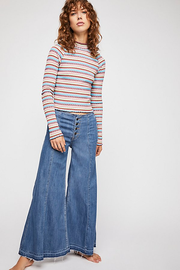 Slide View 1: Extreme Wide-Leg Jeans