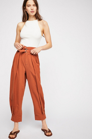 Double Buckle Trousers by Free People