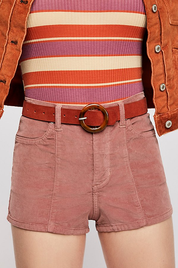 Slide View 3: Luna High-Rise Cord Shorts