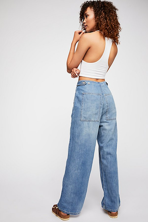 Slide View 2: Trouser Wide Leg Jeans