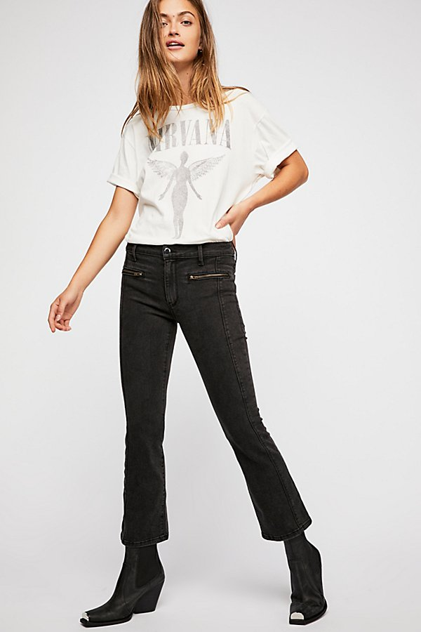 Slide View 1: Weslin + Grant Super Cropped Bootcut Jeans