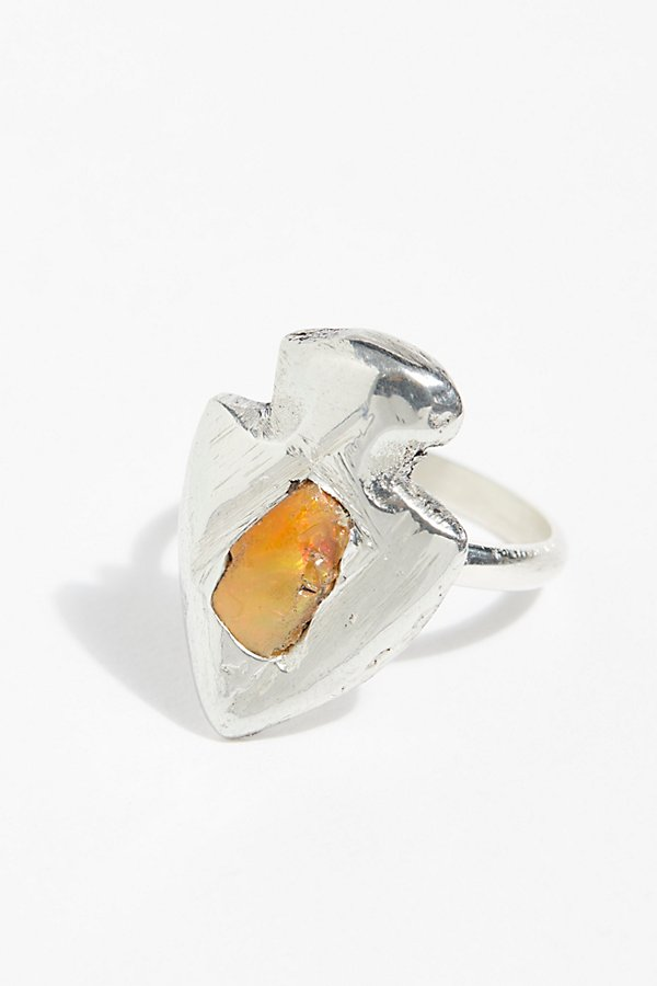 Slide View 2: Gemstone Arrowhead Ring