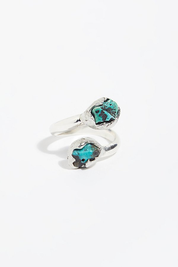 Slide View 2: Grounding Turquoise Wrap Ring
