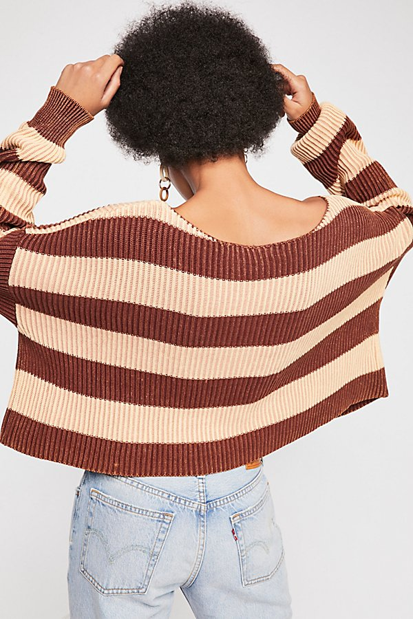Slide View 3: Just My Stripe Pullover Sweater