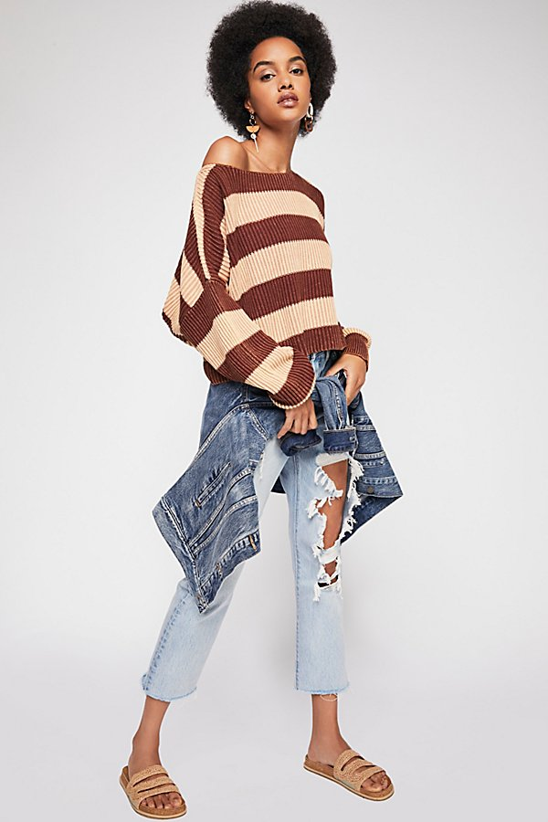 Slide View 4: Just My Stripe Pullover Sweater