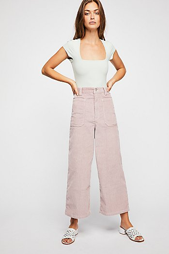Dawn to Dusk Cropped Cord Trousers