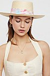 Thumbnail View 1: Aurora Silk Band Straw Hat