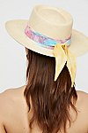 Thumbnail View 2: Aurora Silk Band Straw Hat