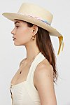 Thumbnail View 3: Aurora Silk Band Straw Hat