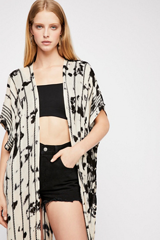 Bombay Stripe Washed Kimono by Free People