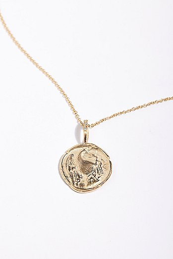 14k Eagle Artifact Charm Necklace