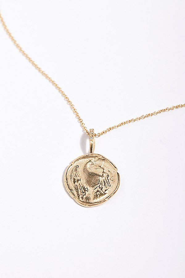 Slide View 1: 14k Eagle Artifact Charm Necklace