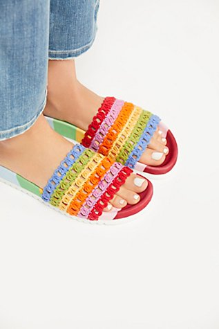 Over The Rainbow Footbed Sandal