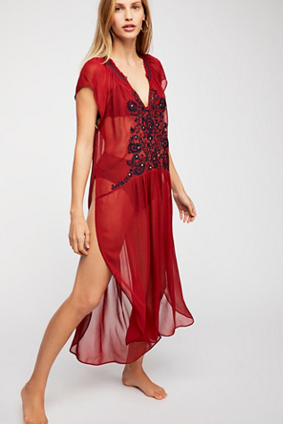 Love Song Embroidered Maxi Top by Free People