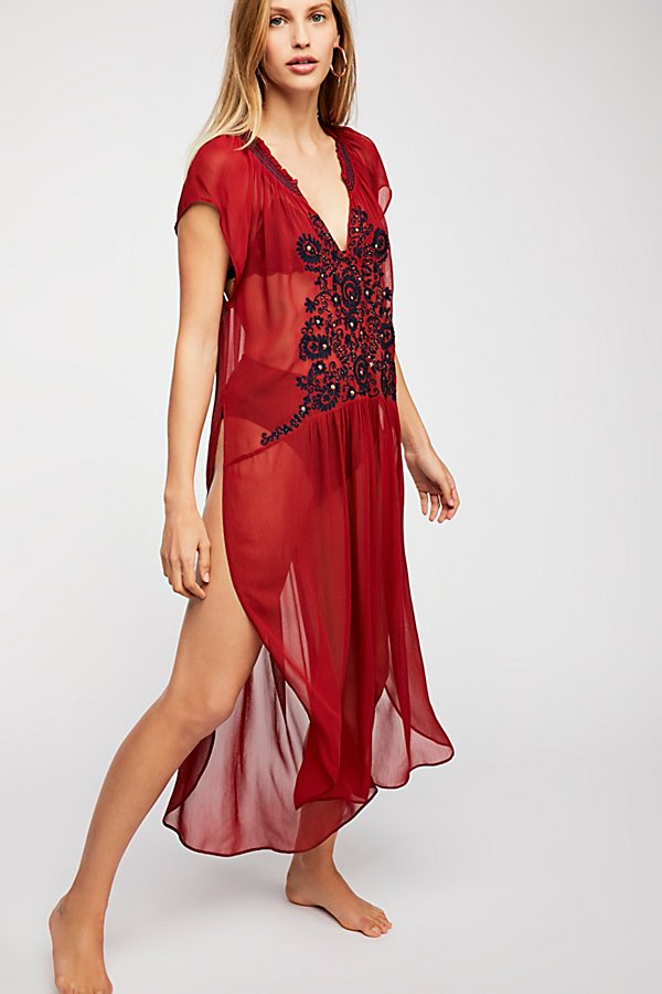 Slide View 1: Love Song Embroidered Maxi Top