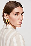 Thumbnail View 1: Wooden Loop Hoop Earrings