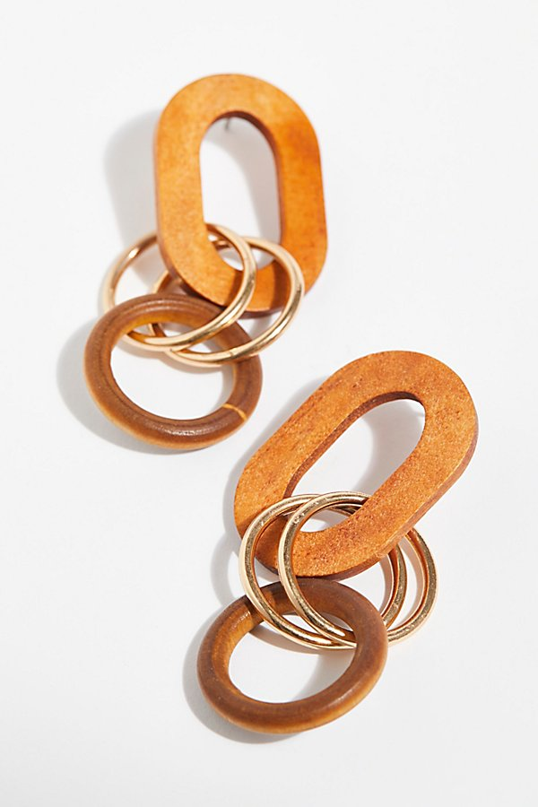 Slide View 2: Wooden Loop Hoop Earrings