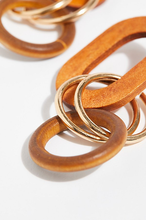 Slide View 3: Wooden Loop Hoop Earrings