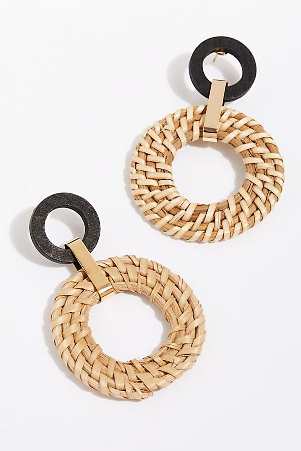 Woven Wicker Earrings