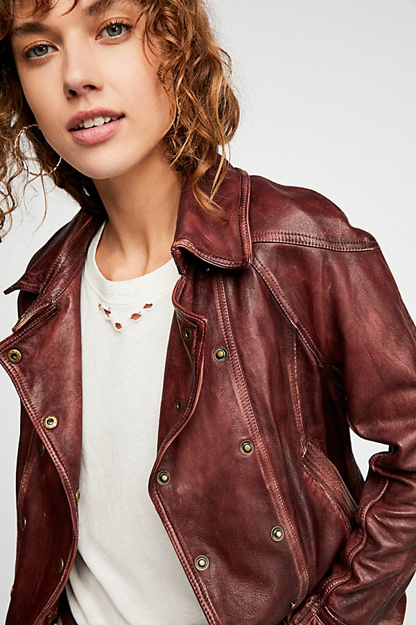 Slide View 1: Avis Leather Jacket